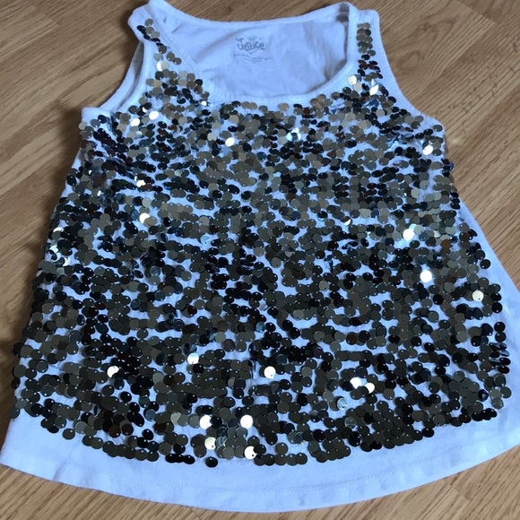 18 20 NEW JUSTICE Girls Wolf OR Heart Flowy Tank